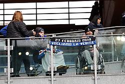 """March 10, 2019 - Genova, Italia - Foto LaPresse - Tano Pecoraro.10 03 2019 Genova - (Italia).Sport Calcio.Sampdoria vs Atalanta.Campionato di Calcio Serie A TIM 2018/2019 - Stadio """"Luigi Ferraris"""".nella foto: tifosi  ..Photo LaPresse - Tano Pecoraro.10 March 2019 City Genova - (Italy).Sport Soccer.Sampdoria vs Atalanta.Italian Football Championship League A TIM 2018/2019 - """"Luigi Ferraris"""" Stadium.in the pic: supporter (Credit Image: © Lapresse via ZUMA Press)"""