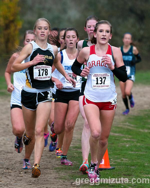 Idaho High School Cross Country State Championships, November 1, 2014 at Eagle Island State Park, Eagle, Idaho.