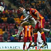 Galatasaray's Aurelien Bayard Chedjou Fongang (R) during their Turkish Super League soccer match Galatasaray between Kasimpasaspor at the TT Arena at Seyrantepe in Istanbul Turkey on Friday, 31 October 2014. Photo by Kurtulus YILMAZ/TURKPIX