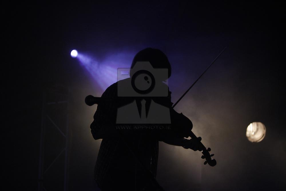 Daithi O'Dronai performing live at the Castle Palooza music festival 2010. Pic Andres Poveda