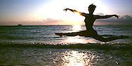 Woman dancing, Florida, Miami Beach