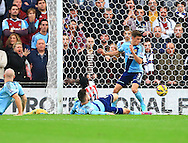 Stoke's Victor Moses opens the scoring with the first goal - Stoke City vs. West Ham United - Barclay's Premier League - Britannia Stadium - Stoke - 01/11/2014 Pic Philip Oldham/Sportimage