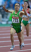 Amina Ait Hammou of Morroco wins second-round heat of 800 meters in the IAAF World Championships in Athletics at Stade de France on Sunday, Aug, 24, 2003.