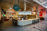9:50am 3/14/2020 <br /> Grand Central Market Place with empty seating. Tourist and locals are avoiding the market due to coronavirus fears.