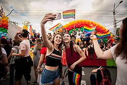 June 10, 2017 - Sofia, Bulgaria - About 3,000 people took part in the 10th edition of Sofia Pride on 10th of June in Sofia, Bulgaria. The Gay Parade in Sofia was first held in 2007, with more and more people taking part in it each year. Like every year, Sofia Pride calls for equal treatment for lesbian, gay, bisexual, and transgender and intersex (LGBTI) people. (Credit Image: © Plamen Trifonov/NurPhoto via ZUMA Press)