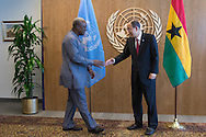 President of Ghana,John Dramani Mahama, with United Nations Secretary General Ban Ki moon.