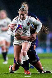 Natasha Hunt of England Women is tackled - Mandatory by-line: Robbie Stephenson/JMP - 16/03/2019 - RUGBY - Twickenham Stadium - London, England - England Women v Scotland Women - Women's Six Nations