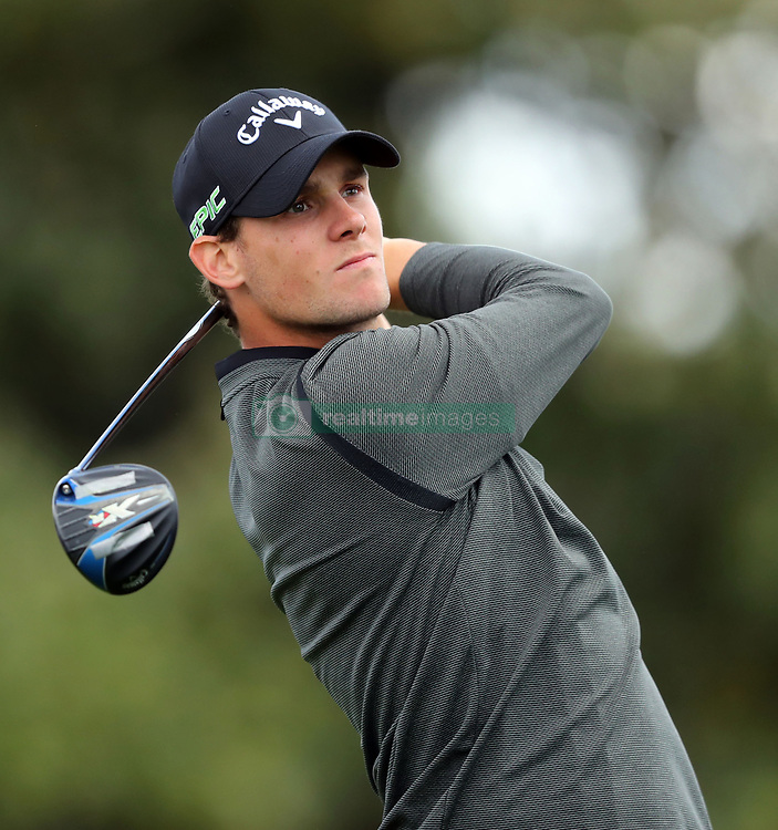 Thomas Pieters uses his driver to hit on the 10th tee as play begins in the opening round of the 81st Masters tournament at the Augusta National Golf Club on Thursday, April 6, 2017, in Augusta, Ga. (Photo by Curtis Compton/Atlanta Journal-Constitution/TNS)  *** Please Use Credit from Credit Field ***