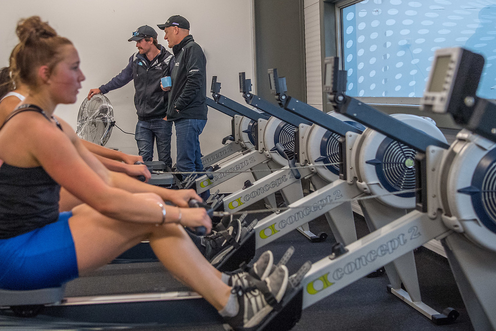 Macaela Turfus, Dunstan Arm Rowing Club<br /> <br /> SRPC squad ergometer training at HPSNZ Apollo Sports Centre, Christchurch. Tuesday 20 November 2018 © Copyright photo Steve McArthur / @RowingCelebration
