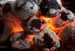August 14, 2017 - Raleigh, NC, USA - According to Debbie Moose, there's nothing like grilling over real charcoal. (Credit Image: © Chris Seward/TNS via ZUMA Wire)