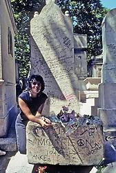 Jim Morrisson's Grave In Pere Lachaise