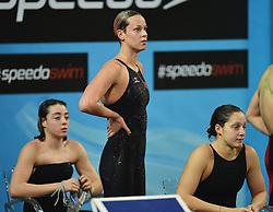 12-12-2012 ZWEMMEN: WK KORTE BAAN: ISTANBUL<br /> Diletta Carli, Federica Pellegrini e Alice Mizzau Italia in action during the FINA World Short Course Swimming Championships at the Sinan Erdem Arena, Istanbul, Turkey<br /> ***NETHERLANDS ONLY***<br /> ©2012-FotoHoogendoorn.nl