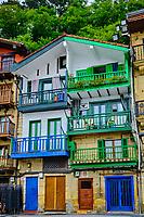 Espagne, Pays Basque, Guipuscoa, Pasai Donibane, place de Santiago // Spain, Basque Country, Guipuscoa, Pasai Donibane, Santiago square