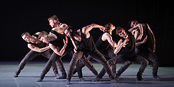 Ballet British Columbia <br /> First UK tour <br /> 16 + a room <br /> Choreography by Emily Molnar (artistic director) inspired by Virginia Woolf, Jeanette Winterson & Emily Dickinson at Sadler's Wells, <br /> London, Great Britain <br /> 6th March 2018 <br /> Rehearsal <br /> <br /> Brandon Alley <br /> Andrew Bartee <br /> Emily Chessa <br /> Livona Ellis <br /> Alexis Fletcher <br /> Scott Fowler <br /> Patrick Kilbane <br /> Racheal Prince <br /> Justin Rapaport <br /> Peter Smida <br /> Christoph von Riedemann <br /> Nicole Ward <br /> Kirsten Wicklund<br /> <br /> <br /> <br /> Photograph by Elliott Franks