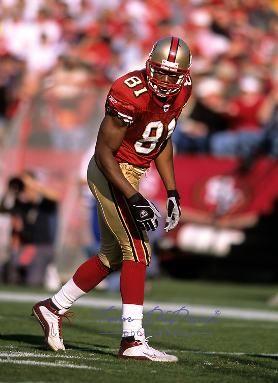 San Francisco 49ers Terrell Owens plays in a game Circa 1996-2003<br /> <br /> (Tom DiPace)