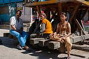 Gurudwara Sahib Manikaran with thermal springs is a pilgrimage centre for Sikhs in the Parvati River Valley,  Himachal Pradesh, India
