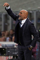 October 21, 2018 - Milan, Milan, Italy - Head coach of FC Internazionale Milano Luciano Spalletti reacts during the serie A match between FC Internazionale and AC Milan at Stadio Giuseppe Meazza on October 21, 2018 in Milan, Italy. (Credit Image: © Giuseppe Cottini/NurPhoto via ZUMA Press)