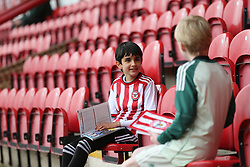 A couple of young Brentford's fans ahead of the game.