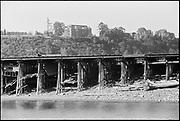 "Y-590824B.-36 ""trip in Harbor Patrol boat on Portland Waterfront."" August 24, 1959. Mock's bottom fill area. University of Portland buildings in background."