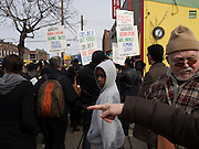 Kimani Gray protest march in Brooklyn, NY, on Sunday, March 24, 2013. ..Photograph by Andrew Hinderaker