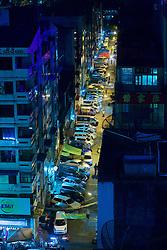 Yangon City Street At Night