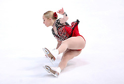 04.12.2015, Dom Sportova, Zagreb, CRO, ISU, Golden Spin of Zagreb, freies Programm, Paare, im Bild Caitlin Fields - Ernie Utah Stevens, USA. // during the 48th Golden Spin of Zagreb 2015 doubles Free Program of ISU at the Dom Sportova in Zagreb, Croatia on 2015/12/04. EXPA Pictures © 2015, PhotoCredit: EXPA/ Pixsell/ Igor Kralj<br /> <br /> *****ATTENTION - for AUT, SLO, SUI, SWE, ITA, FRA only*****