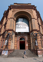 Exterior of C/O photography art gallery space on Oranienburger Strasse in Scheunenviertel Berlin Germany