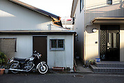 new family house built next to an old house Japan Yokosuka