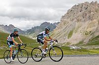CYCLING - TOUR DE FRANCE 2011 - STAGE 19 - Modane Valfréjus > Alpe d'Huez (109,5km) - 22/07/2011 - PHOTO : VINCENT CURUTCHET / DPPI - ALBERTO CONTADOR (ESP) / SAXO BANK -  ANDY SCHLECK (LUX) / LEOPARD TREK