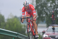September 15, 2017 - Chenghu City, United States - Marco Benfatto from Androni Sidermec Bottecchia team during the fourth stage of the 2017 Tour of China 1, the 3.3 km Chenghu Jintang individual time trial. .On Friday, 15 September 2017, in Jintang County, Chenghu City,  Sichuan Province, China. (Credit Image: © Artur Widak/NurPhoto via ZUMA Press)