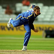 Surrey's Ian Salisbury in action against Derbyshire.