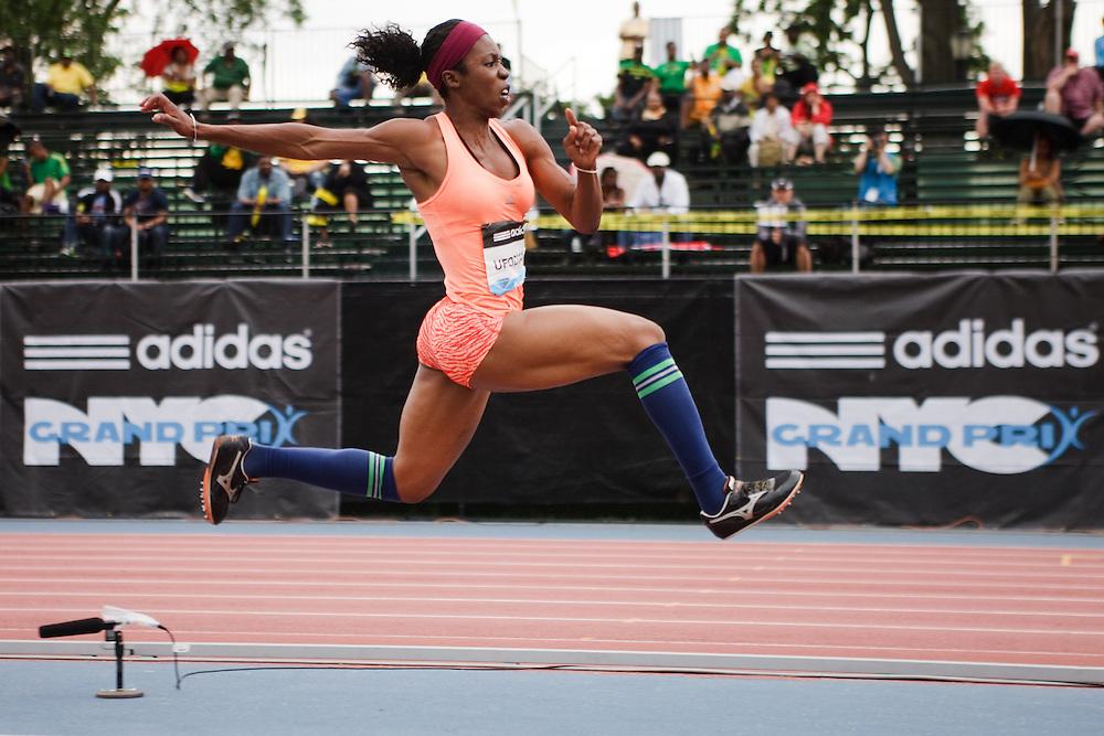 Samsung Diamond League adidas Grand Prix track & field; Womens Triple Jump, Blessing Ufodiama, USA