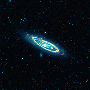 Image of the Andromeda galaxy, M31,  captured by  NASA's Wide-field Infrared Survey Explorer (WISE). The mosaic covers an area equivalent to more than 100 full moons.  Credit NASA. Science Astronomy