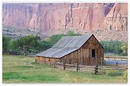 The Gifford Homestead Barn at Capitol Reef National Park, Utah, USA