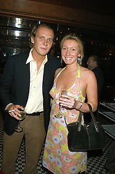 GEORGE CADBURY and JOSIE GOODBODY at a party hosted by Frankie Dettori, Marco Pierre White and Edward Taylor to celebrate the launch of Frankie's Italian Bar & Grill at 3 Yeoman's Row, London SW3 on 2nd September 2004.