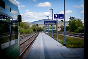 Train station Zwiesel in Bavaria where you get with a local train towards the city of Bayerisch Einsenstein close to the Czech border after the corona virus outbreak changed our public lifes.