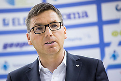 Roman Dobnikar, president of AZS during press conference when Slovenian athletes and their coaches sign contracts with Athletic federation of Slovenia for year 2016, on February 25, 2016 in AZS, Ljubljana, Slovenia. Photo by Vid Ponikvar / Sportida