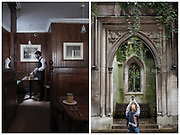 St Dunstans In The East and Simpsons Tavern shot for Nostalgic London guidebook published by Luster Books