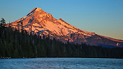 USA, Oregon, Mt. Hood National Forest, Lost Lake,  sunset approaching.
