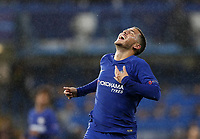 Chelsea s Eden Hazard in action during the champions league match at Stamford Bridge Stadium, London. Picture date 12th September 2017.<br /> Norway only