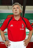 Milano 21/8/2004 Supercoppa Italiana - Italian Supercup Milan Lazio 3-0 Carlo Ancelotti allenatore del Milan. Carlo Ancelotti Milan trainer<br /> <br /> Foto Andrea Staccioli Graffiti