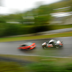 The Berg Racing Porsche Boxter driven by Eric Curran and John Weisberg during the Grand-Am Continental Tire Sports Car Challenge ST race at Lime Rock Park in Lakeville, Conn.