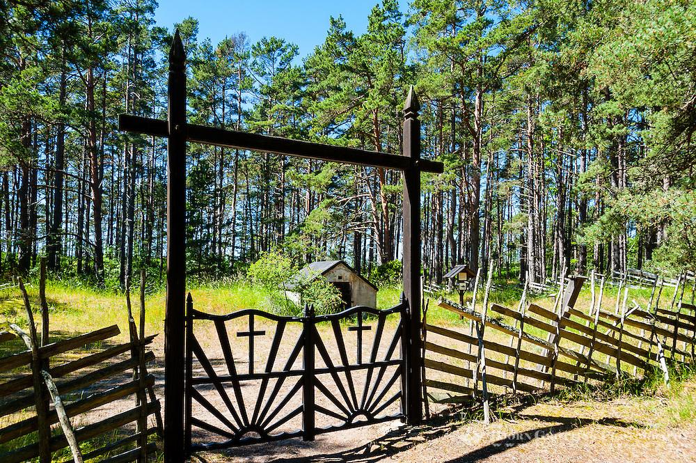 Sweden, Gotska Sandön national park. Kyrkogården, the Cemetery.