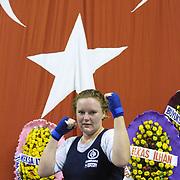 2. WOMEN'S WORLD BOXING CHAMPIONSHIPS.<br /> Denmark's Bettina KARSLEN winner. Dilek Sabanci Sport Hall Antalya/Turkey<br /> Photo by Aykut AKICI/TurkSporFoto