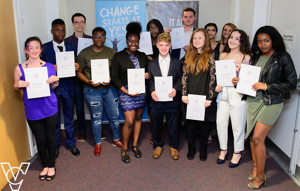 Cohort 2 - Team 4 | NCS EM1 graduation ceremony held at The Castle Theatre, Wellingborough, Northamptonshire.<br /> <br /> Picture: Chris Vaughan Photography<br /> Date: September 13, 2017