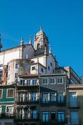 Urban scene at Rua da Vitoria in the Old Town of Porto, Portugal