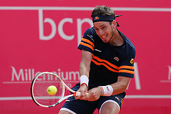 May 3, 2018 - Estoril, Portugal - CAMERON NORRIE of Great Britain returns a ball to Roberto Carballes Baena os Spain during the Millennium Estoril Open ATP 250 tennis tournament, at the Clube de Tenis do Estoril in Estoril, Portugal on May 3, 2018. (Credit Image: © Pedro Fiuza via ZUMA Wire)