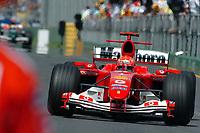 Formel 1, AUTO - F1 2004 - AUSTRALIA GP - MELBOURNE 20040307 - PHOTO : GILLES LEVENT / Digitalsport<br /> N¡ 1 - MICHAEL SCHUMACHER (GER) / FERRARI - ACTION