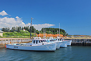 Fishing boats in harbour. Strait of Northumberland.<br /> <br /> Annandale<br /> Prince Edward Island<br /> Canada