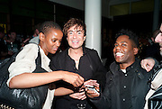 MARCIA TAYLOR; JULIAN MACDONALD; DEAN CLEARY-PATTERSON, 30 Years Of i-D - book launch. Q Book 5-8 Lower John Street, London . 4 November 2010. -DO NOT ARCHIVE-© Copyright Photograph by Dafydd Jones. 248 Clapham Rd. London SW9 0PZ. Tel 0207 820 0771. www.dafjones.com.